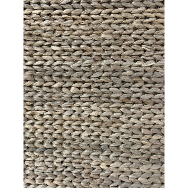 Hand Woven Jute Rug-5' X 8' For Sale - Image 4 of 10