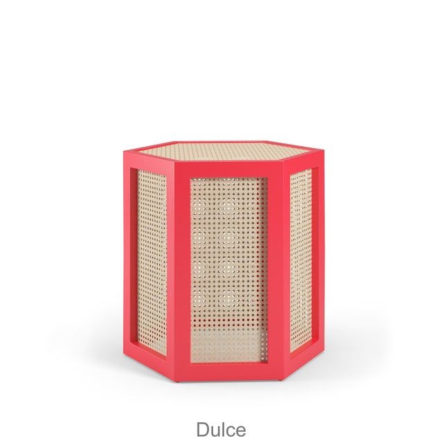 Not Yet Made - Made To Order Dulce Stool - Bull's Eye Red For Sale - Image 5 of 5