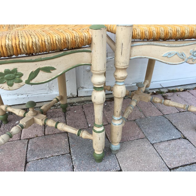 Natural Fiber French Ladderback Chairs - A Pair For Sale - Image 7 of 8