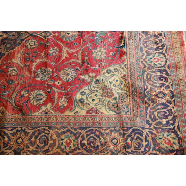 Vintage Hand-Woven Persian Rug - 7′4″ × 8′12″ - Image 5 of 9