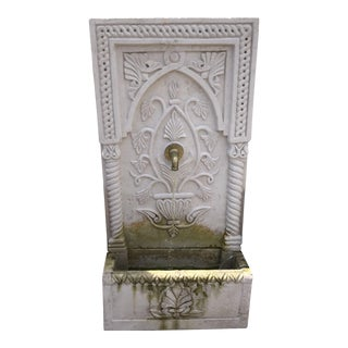Wall Courtyard Cast Stone Fountain For Sale