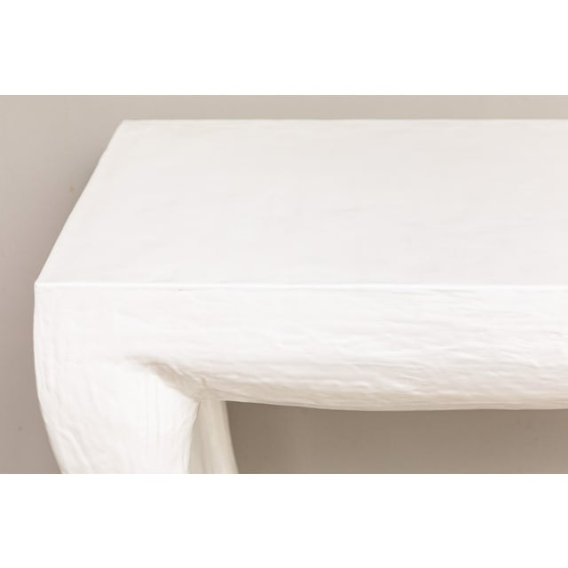 Cast Resin Console Tables - a Pair For Sale In Los Angeles - Image 6 of 9