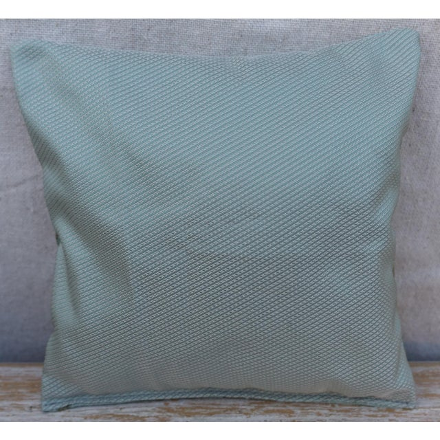 Custom lavender sachet made with beautiful designer gold motif on silk and hand sewn to a textured back.