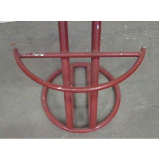 Red Metal Base Stool Preview