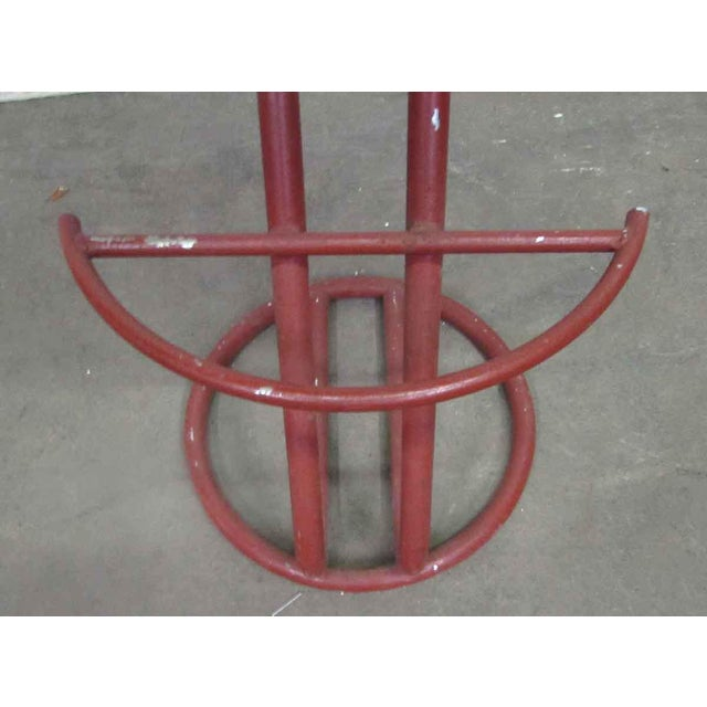 Red Metal Base Stool - Image 2 of 7