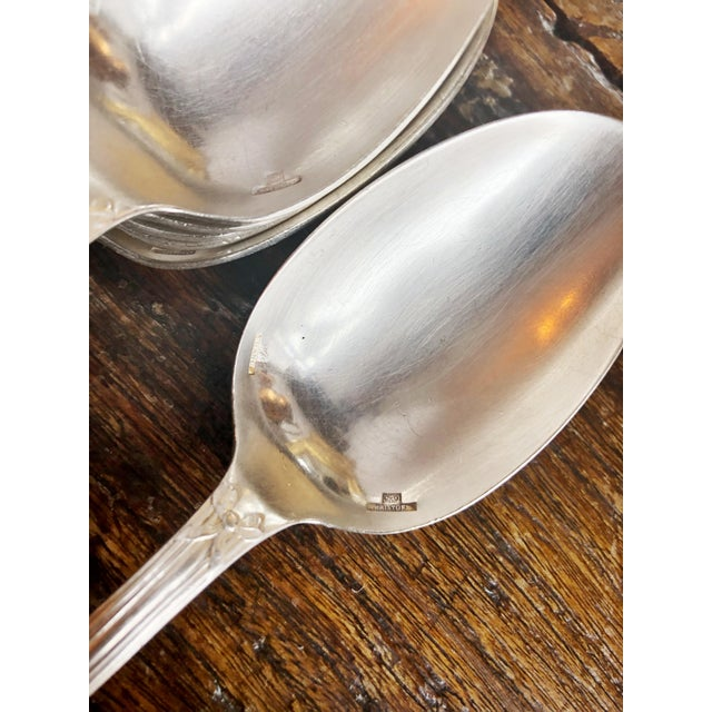 Christofle 1910s Christofle Silver Flatware Service for 6 From Plaza Athenee Hotel Paris - Set of 24 For Sale - Image 4 of 12