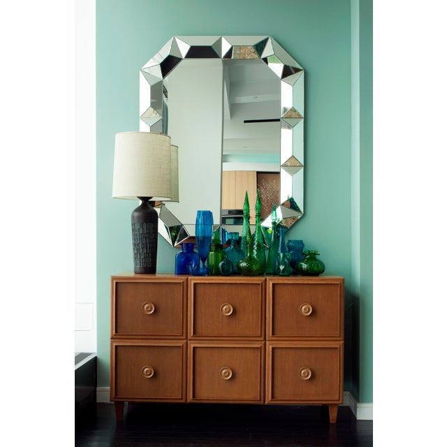 Geometric Cut Surround Octagonal Mirror For Sale - Image 10 of 11
