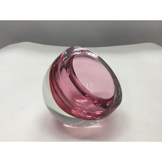 Murano Sommerso Orb Glass Sculpture by Antonio Da Ros For Sale - Image 11 of 11