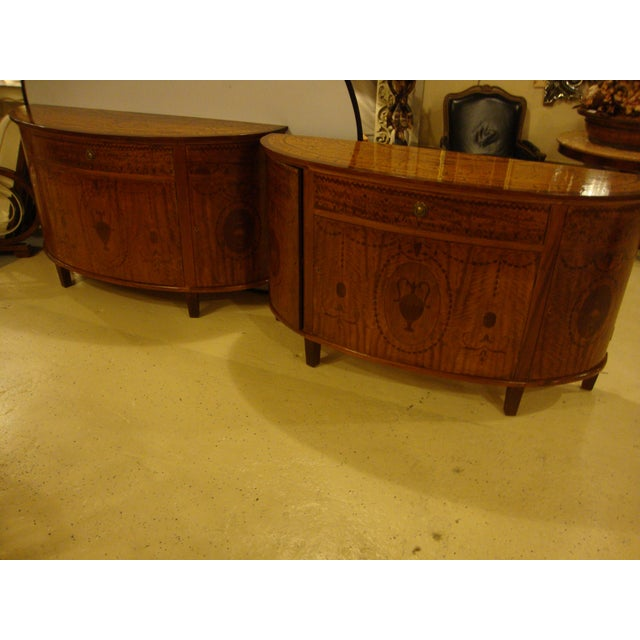 Adams Style Demilune Console Tables - A Pair For Sale - Image 4 of 11