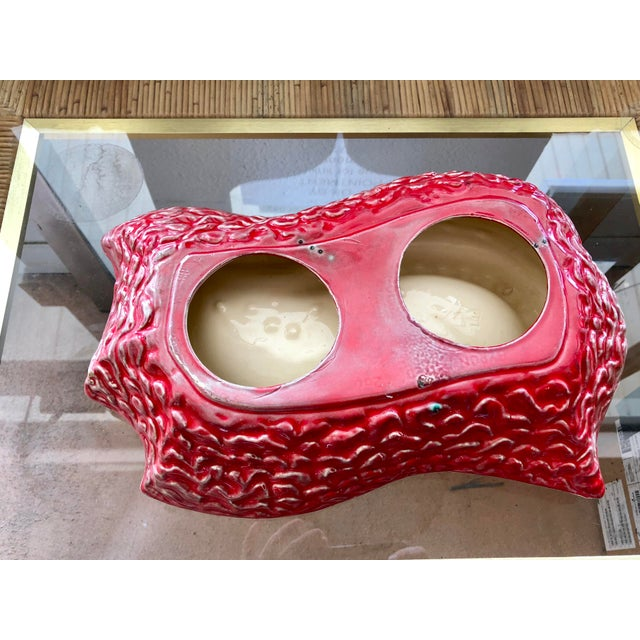 1960s Vintage Red Ceramic Ashtray For Sale - Image 4 of 6