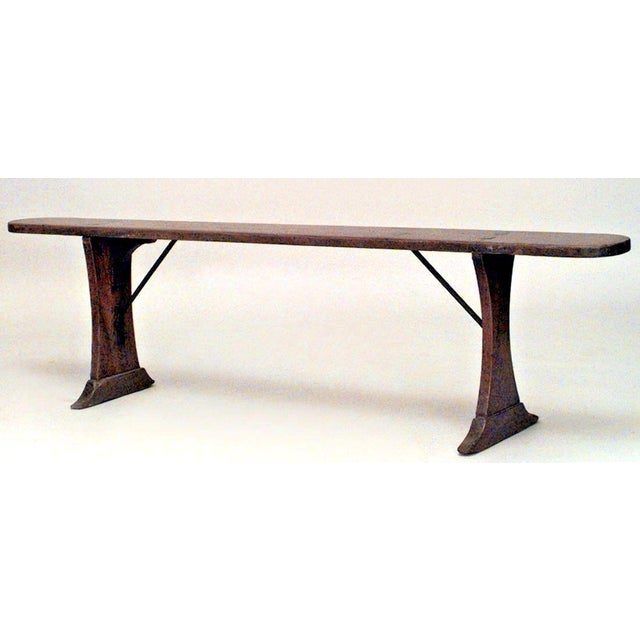Mid 19th Century Rustic Italian Renaissance Style Fruitwood Bench (19th Century) For Sale - Image 5 of 5