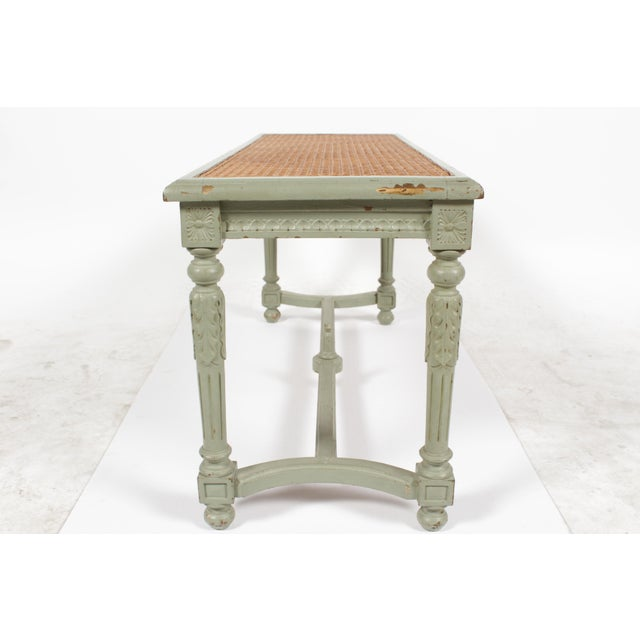 Antique Louis XVI Style Painted Bench - Image 8 of 10