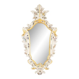 Continental Porcelain Keystone Wall Mirror For Sale