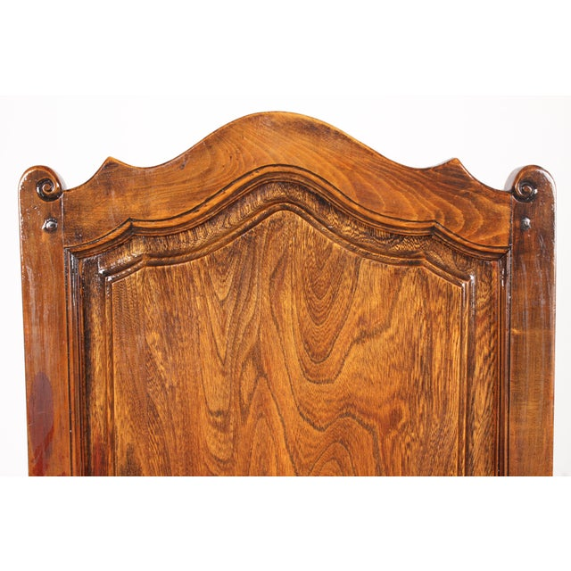 Elizabethan-Style Raised Panel Armchair - Image 6 of 8