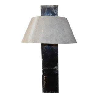 Shagreen Ice Cracked Resin Table Lamp For Sale
