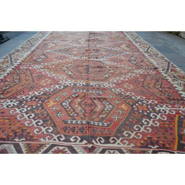 Islamic Large Turkish Antique Kilim Rug - 6′3″ × 12′7″ For Sale - Image 3 of 6