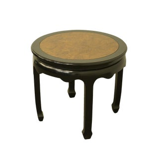 Chinoiserie Century Furniture Chin Hua Collection Round Accent End Table For Sale