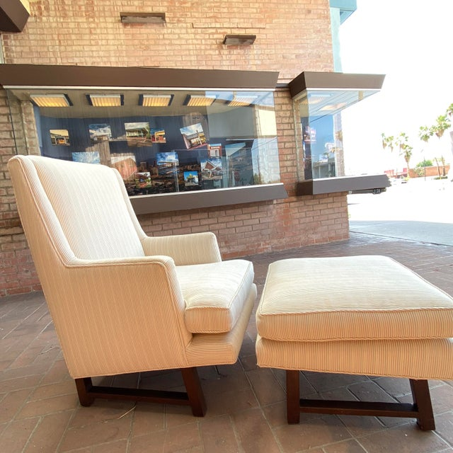 Dunbar Furniture 1960s Edward Wormley for Dunbar Lounge Chair and Ottoman For Sale - Image 4 of 7