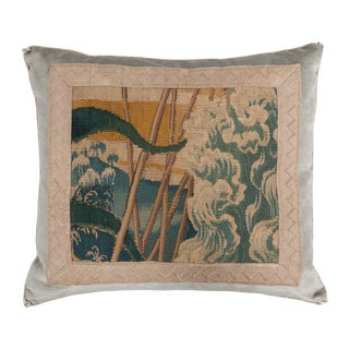 B. Viz Design Antique Tapestry Textile Pillow For Sale