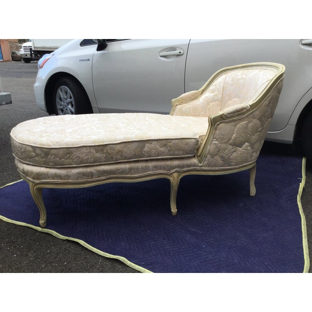 Louis XV-Style Painted Chaise Lounge - Image 5 of 5
