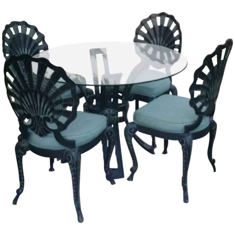 vintage used blue patio and garden furniture chairish rh chairish com art deco style garden furniture Art Deco House Plans