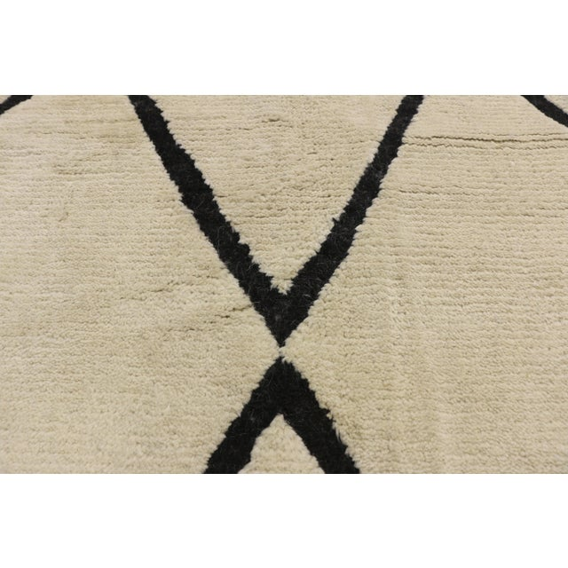 Alvar Aalto Contemporary Moroccan Area Rug With Modern Style - 10'02 X 13'05 For Sale - Image 4 of 10