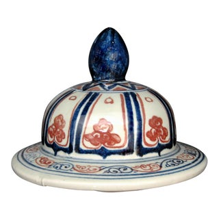 Manchu Qing Dynasty Ginger Jar Lid With Finial For Sale