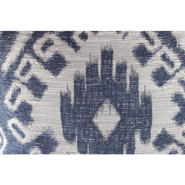 Indigo & Grey Woven Ikat Pillow - Image 3 of 4