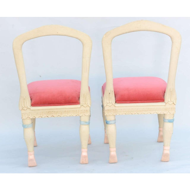 1950s Set of Four Ballerina Side Chairs For Sale - Image 5 of 11