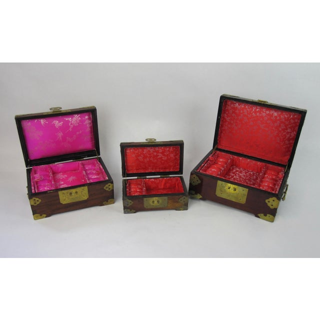 Antique Chinese Jewelry Boxes With Jade - Set of 3 For Sale In Los Angeles - Image 6 of 9