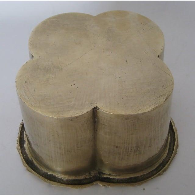Handmade Brass Clover Console Bowl - Image 8 of 8