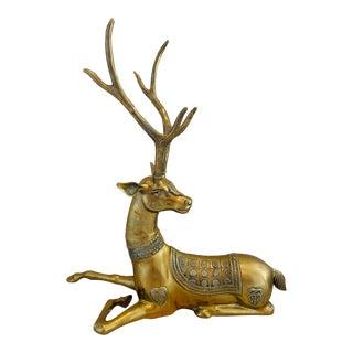 Vintage Sarreid Monumental Brass Deer For Sale