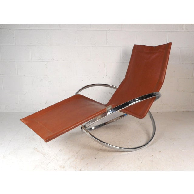 Midcentury Italian Folding Chaise Lounge Rocker For Sale - Image 10 of 10