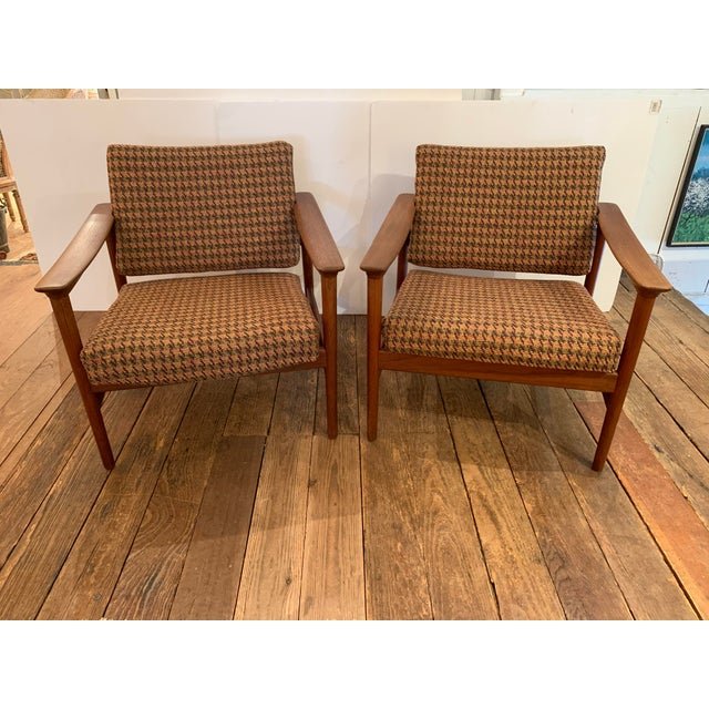 Danish Mid Century Modern Teak and Upholstered Club Chairs- A Pair For Sale - Image 9 of 9