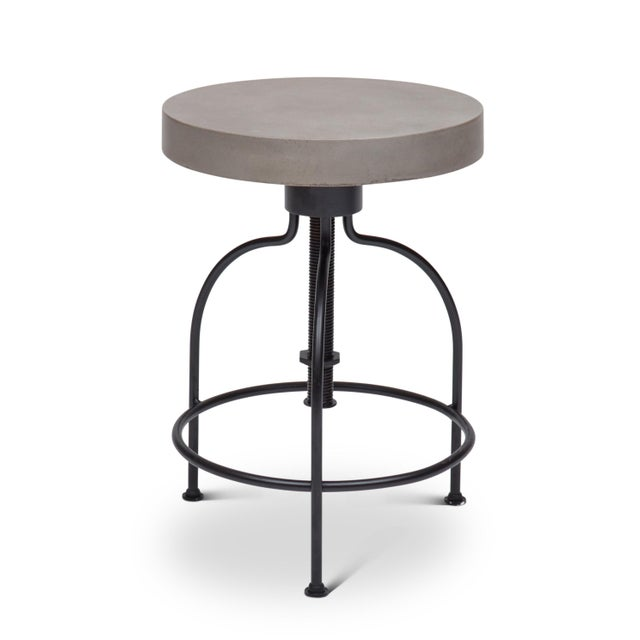 2010s Screwy Stool in Dark Gray For Sale - Image 5 of 8