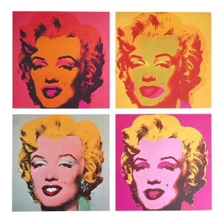 "Andy Warhol Estate Rare Vintage 1989 Pop Art Collector's Lithograph Print "" Four Marilyns "" 1964 / 67 For Sale"
