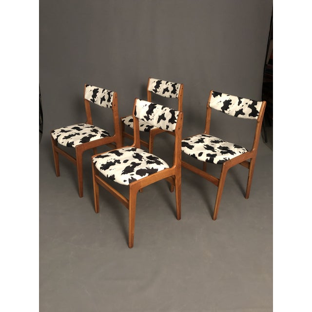 Vintage Mid Century Curated Teak Danish Dining Chairs- Set of 4 For Sale - Image 11 of 12