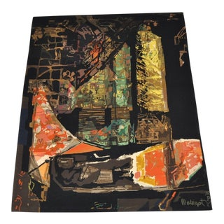 Mathieu Mategot Mid Century Modern Tapestry Masterpiece For Sale
