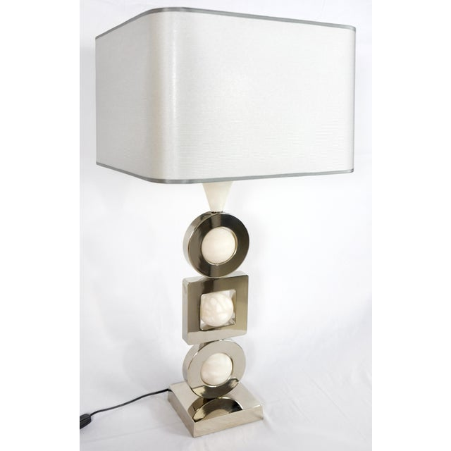 "Laudarte Srl Andromeda Table Lamp by Attilio Amato, pair available Offered for sale is a fine quality brass and marble ""..."