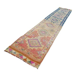 1970s Turkish Runner Rug - 2′7″ × 14′3″ For Sale