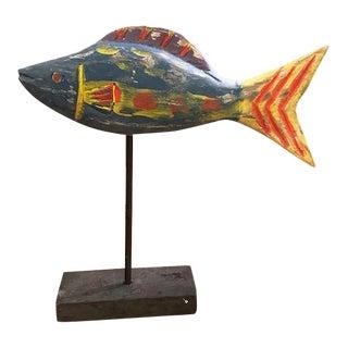 Vintage Wood Fish For Sale