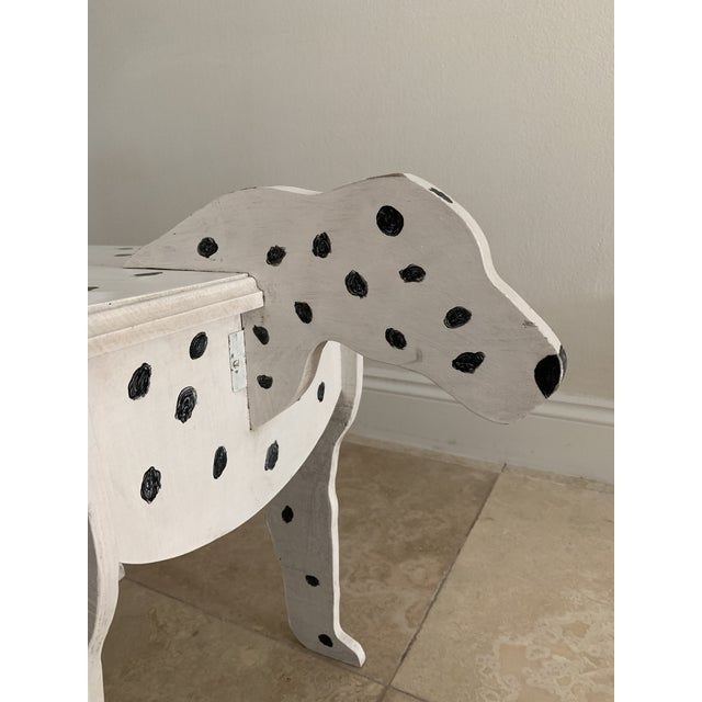 1970s Dalmatian Dog Wooden Table - Handmade For Sale - Image 9 of 13