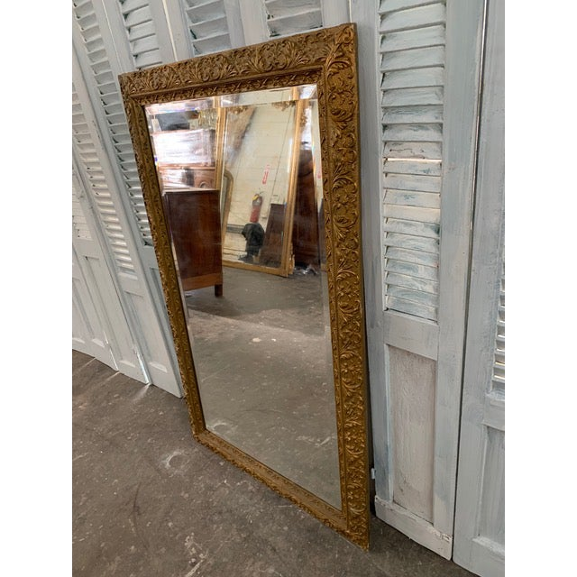 French 18th Century French Louis XVI Giltwood Mirror For Sale - Image 3 of 9