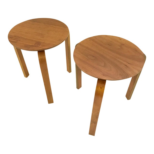Danish Stacking Side Tables - A Pair For Sale