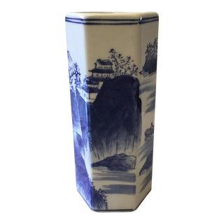 Hexagonal Shaped Chinoiserie Vase For Sale
