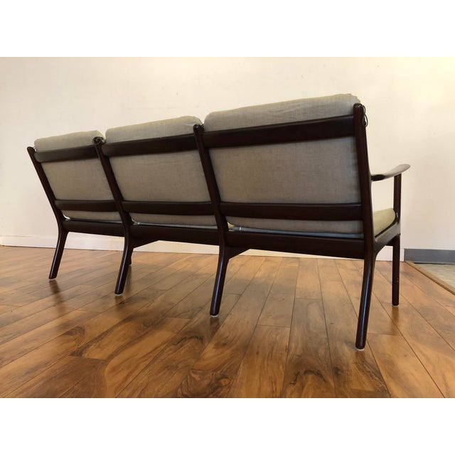 Vintage Mid Century Modern Sofa by Ole Wanscher for Poul Jeppesen For Sale In Seattle - Image 6 of 13