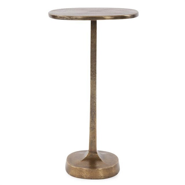 Contemporary Kenneth Ludwig Chicago Brass Cast Martini Table For Sale