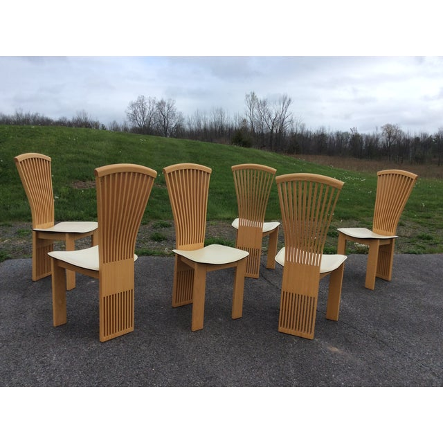 Pietro Costantini Maple Dining Chairs - Set of 6 - Image 2 of 11