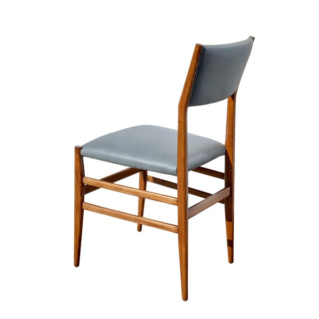 "1950s Set of Eight ""Leggera"" Dining Chairs by Gio Ponti For Sale - Image 5 of 12"
