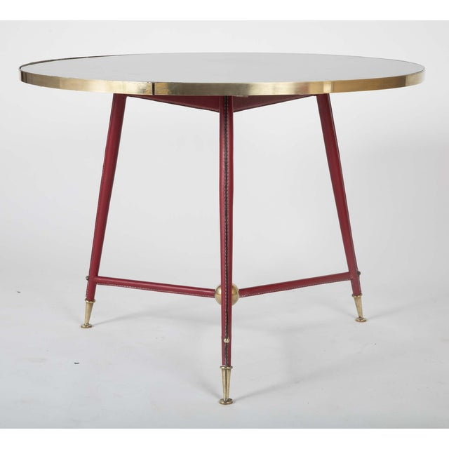 Paint Pair Of Jules Leleu Side Tables For Sale - Image 7 of 13
